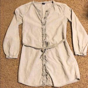 Gap Denim Button Front Gray Dress size 8